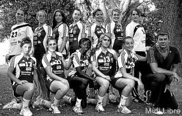 présentation de l'équipe féminine de Nîmes en D2F